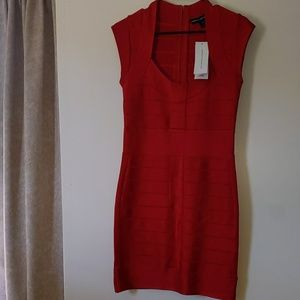 Vintage Red Bandage Dress